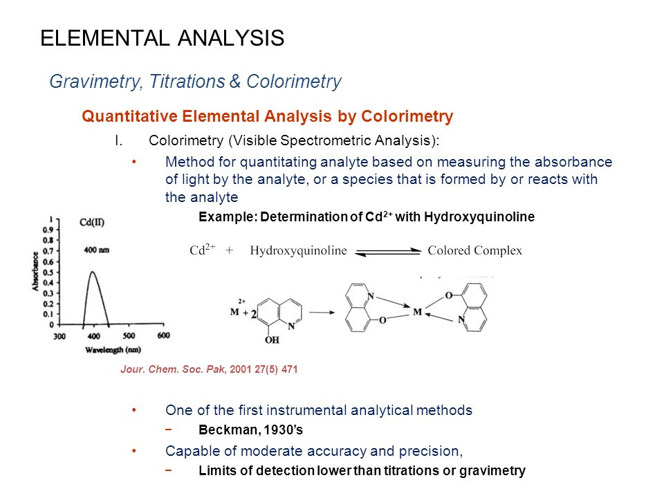 colorimetry limitation There are limitations to colorimetry these limitations includesimilar colors that produce errors in results, a tighter wavelengthband width, .
