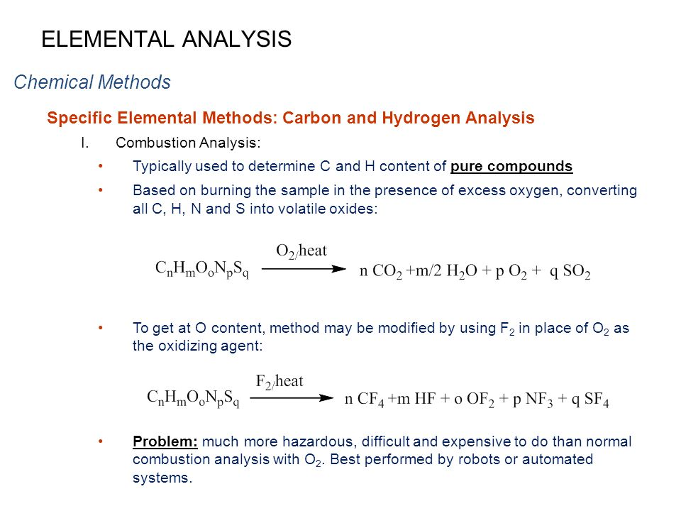 an analysis of carbon compounds Compounds as simple as nitric oxide, carbon dioxide, and ethylene play   elemental analyses of such fascinating and important plant-derived.