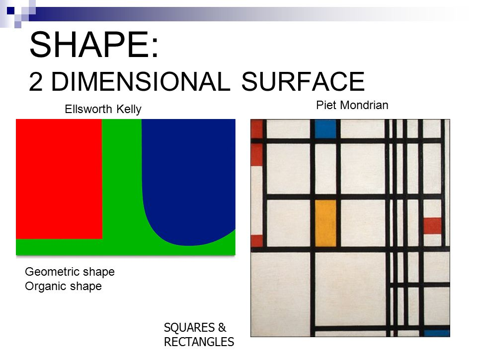 SHAPE: 2 DIMENSIONAL SURFACE