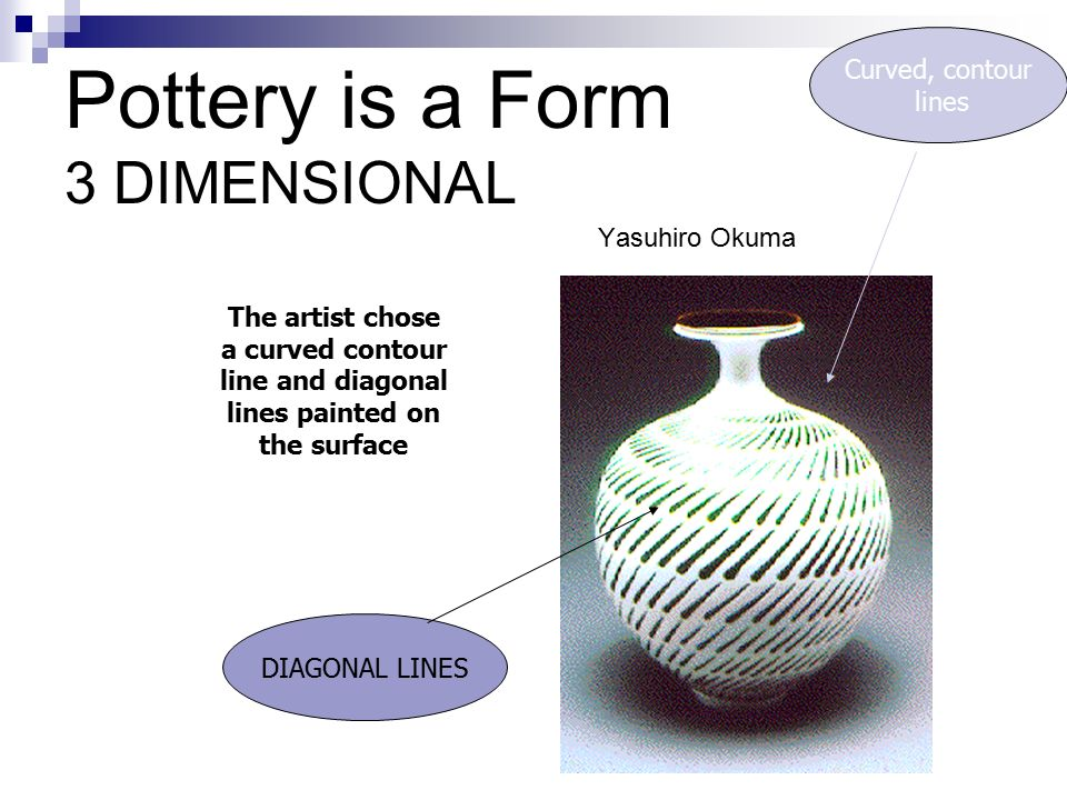 Pottery is a Form 3 DIMENSIONAL