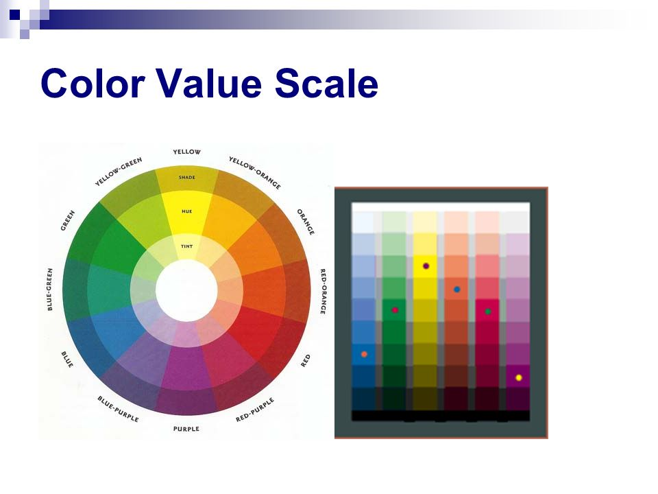 Color Value Scale