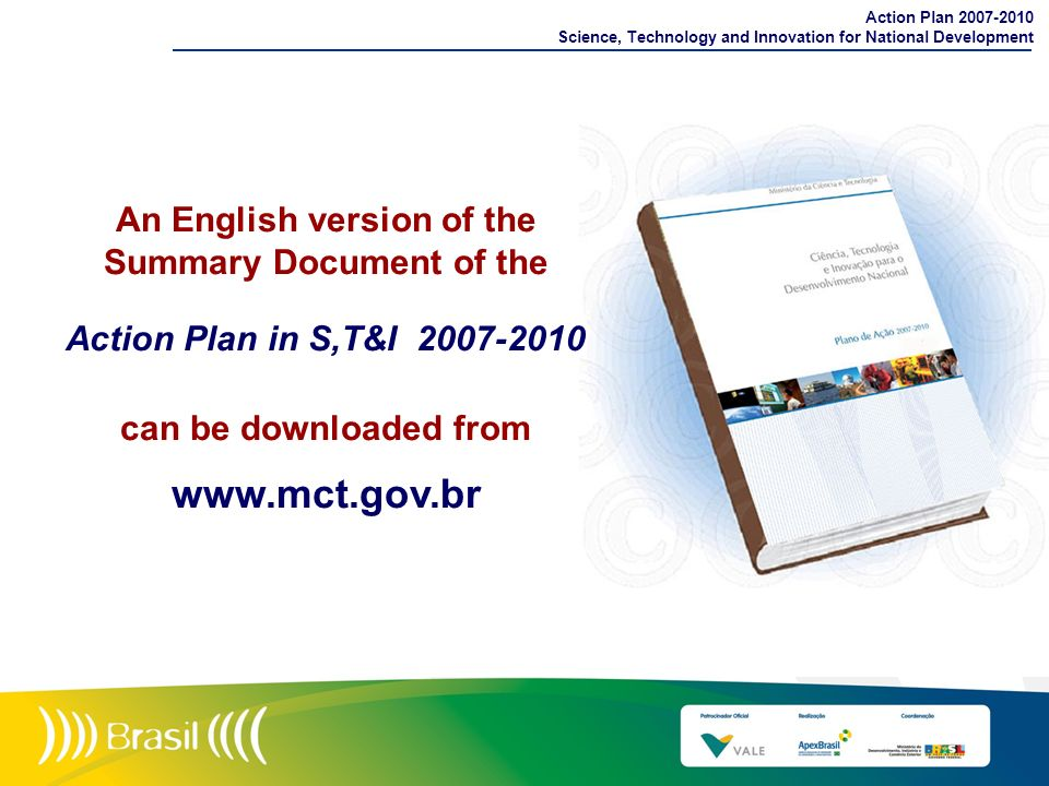 An English version of the Summary Document of the