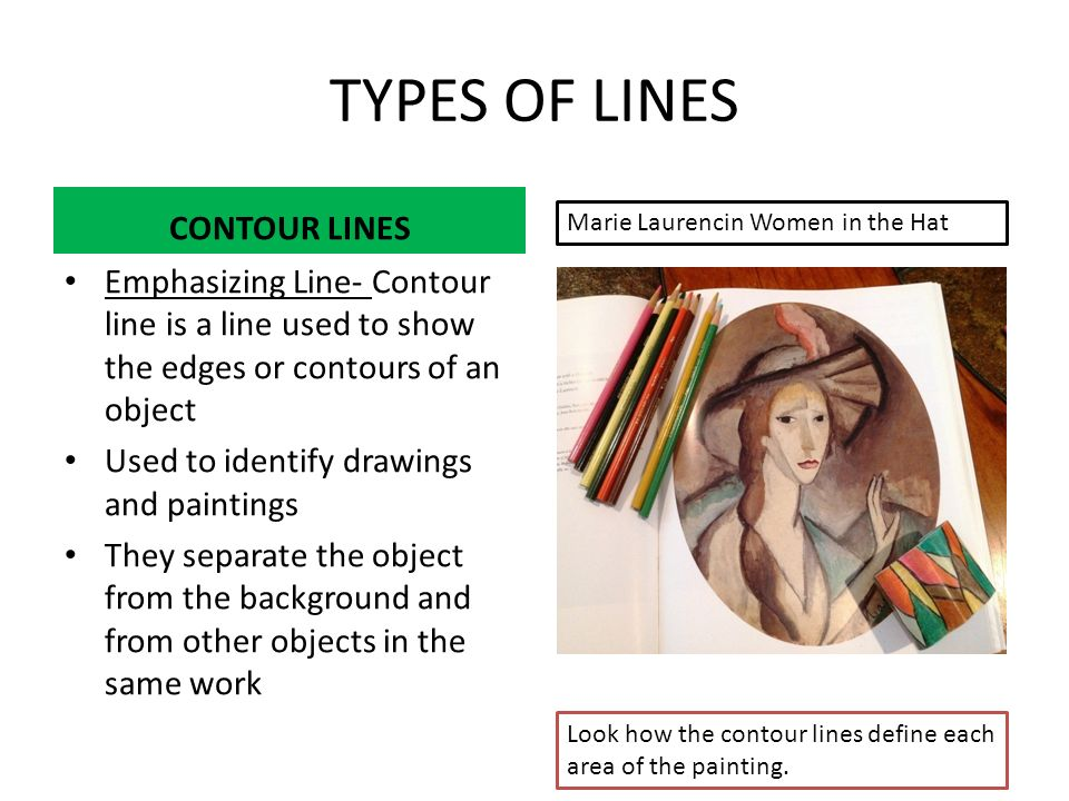 Types Of Contour Line Drawing : Fine arts lesson elements of art ppt download
