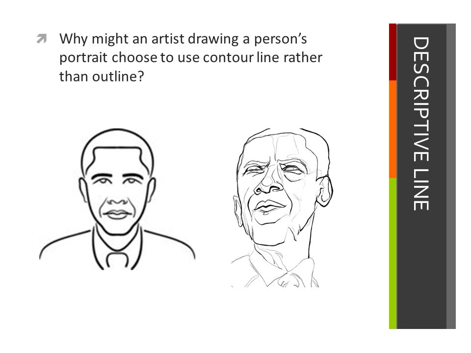 Contour Line Drawing Of A Person : Line element of art ppt video online download