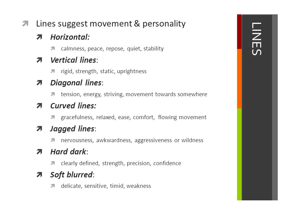 Curved Line Definition In Art : Line element of art ppt video online download
