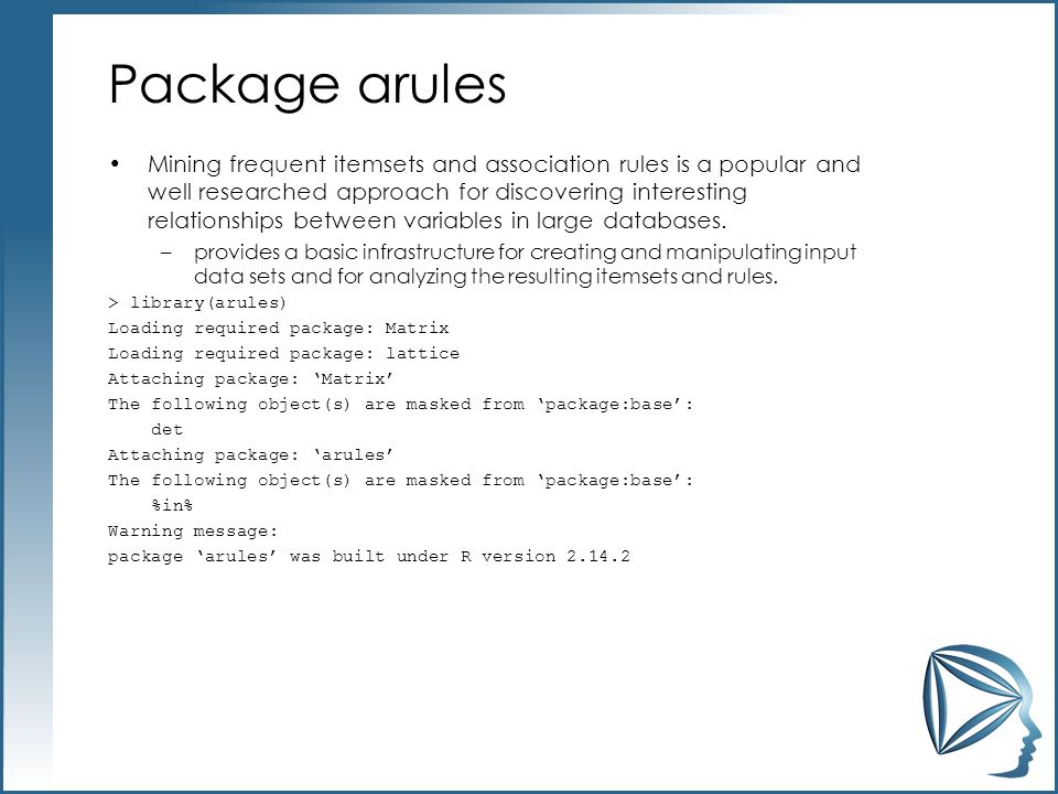 Package arules