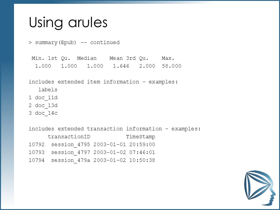 Using arules