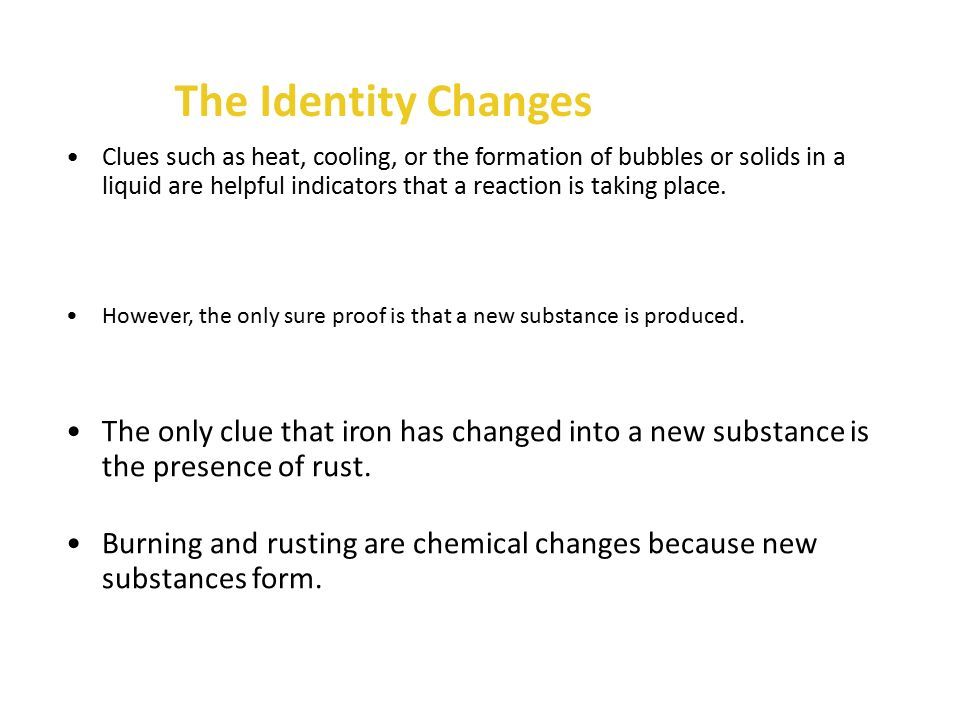 The Identity Changes