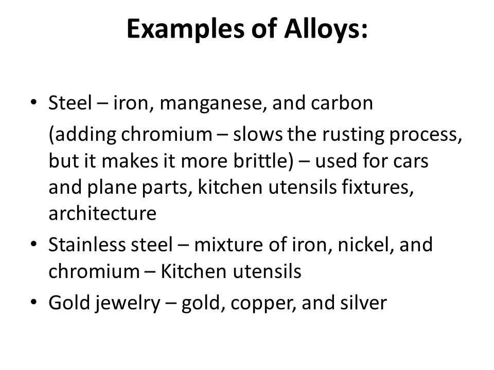 Metals Most Elements Are Metals 88 Elements To The Left Of The