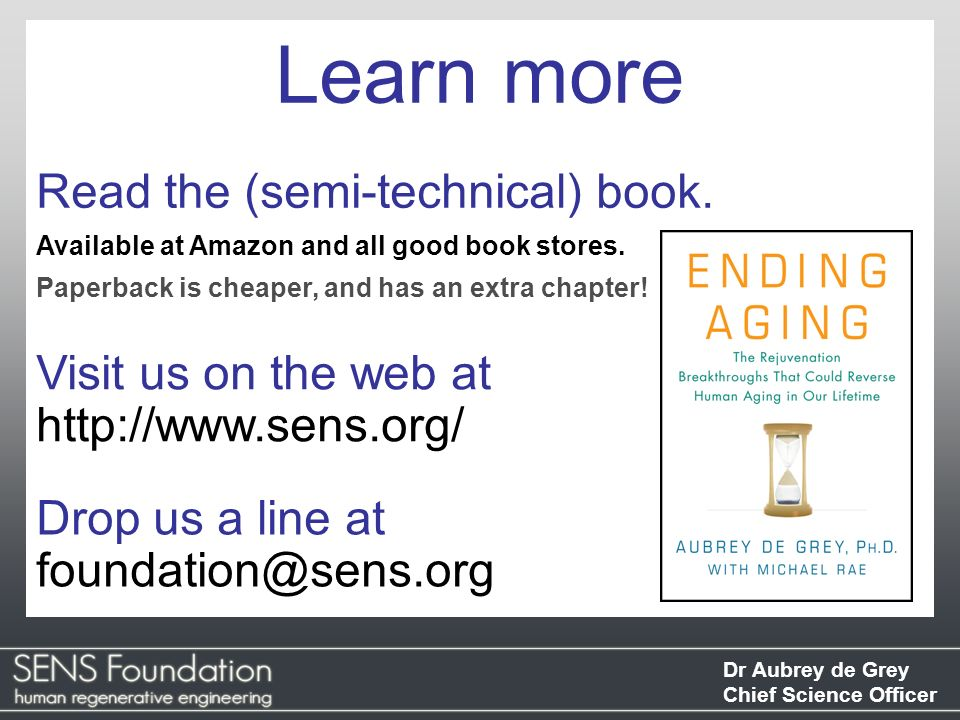 Learn more Read the (semi-technical) book. Visit us on the web at