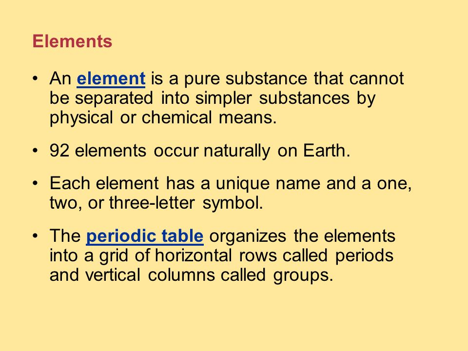 92 elements occur naturally on Earth.