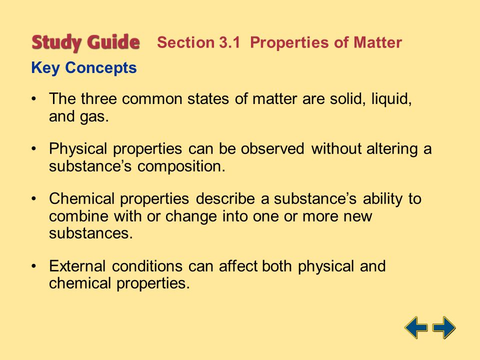 Section 3.1 Properties of Matter