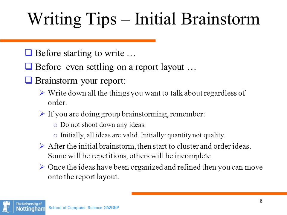 tips on writing a report