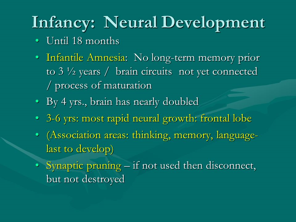 what is meant by the term infantile amnesia Additional repitition of learned information that helps boost its long-term storage  the encoding of meaning, including the meaning of words  infantile amnesia:.