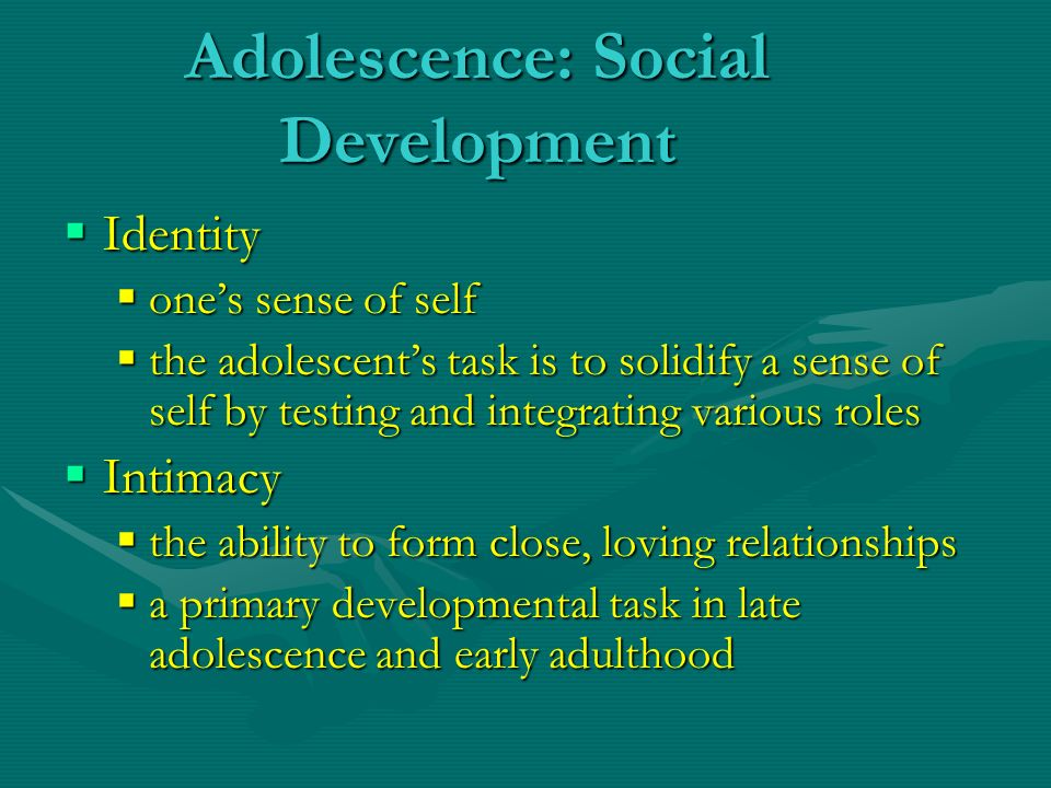 development in adolescence and late adulthood Adolescent development is divided into three main stages: early adolescence,  middle adolescence,  middle adolescence includes teens 14 to 18 and late  adolescence refers to young adults between the ages 19 and 21.