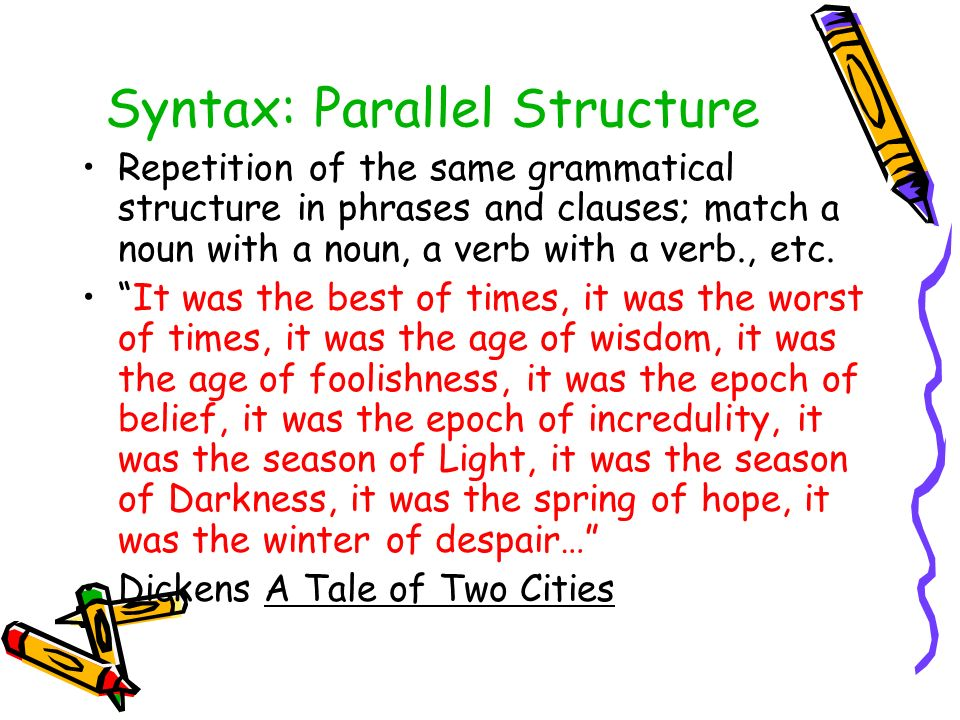 Winter syntax analysis