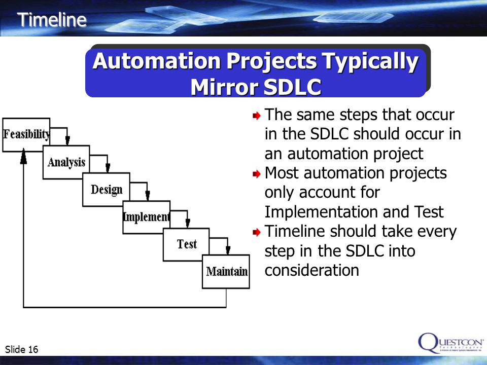 Automation Projects Typically