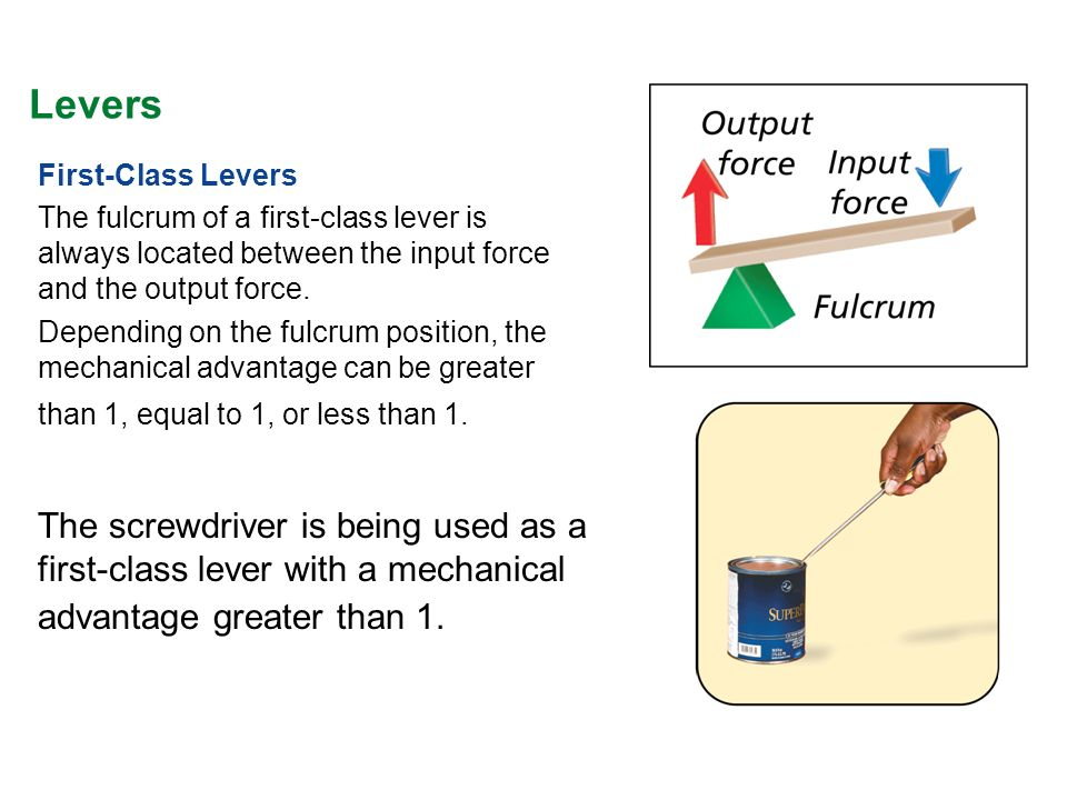 Lever Input And Output Force : Simple machines the six types of are