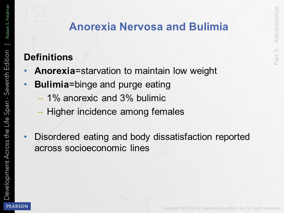 a discussion about anorexia nervosa developed during puberty Missed periods in this article what  if you have an eating disorder called anorexia nervosa,  you are 14 years old or older and have not developed breasts or.