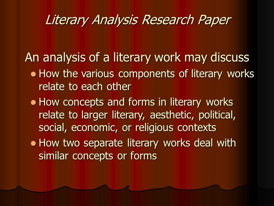 literary analysis essay paper