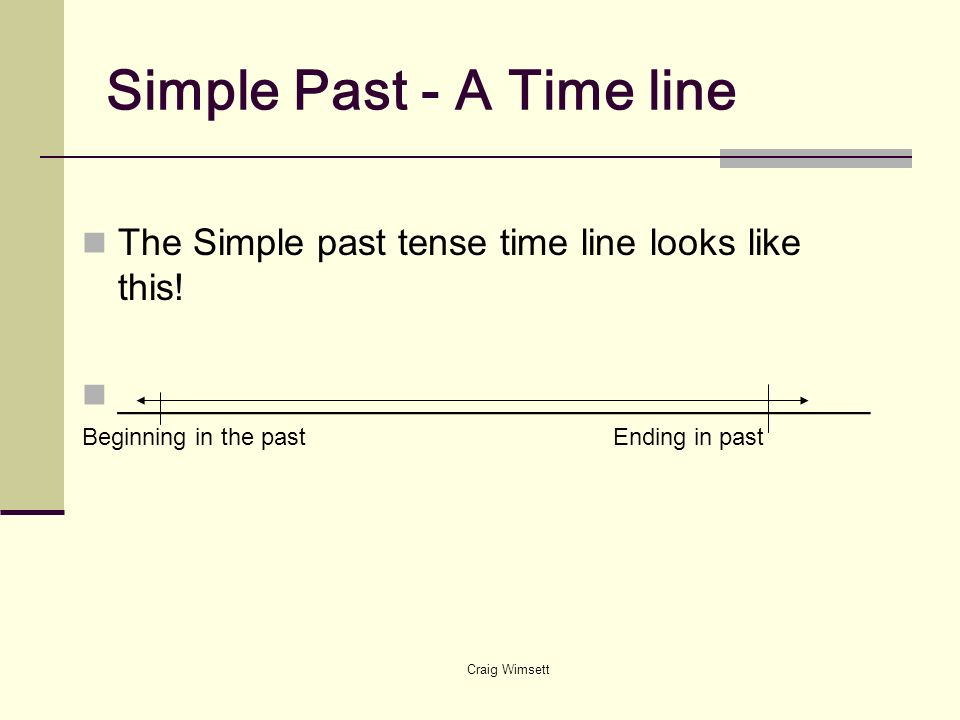 Simple Past - A Time line