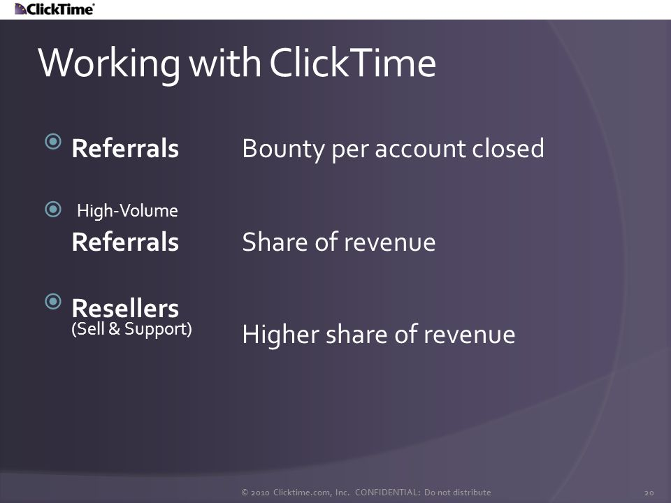 Working with ClickTime