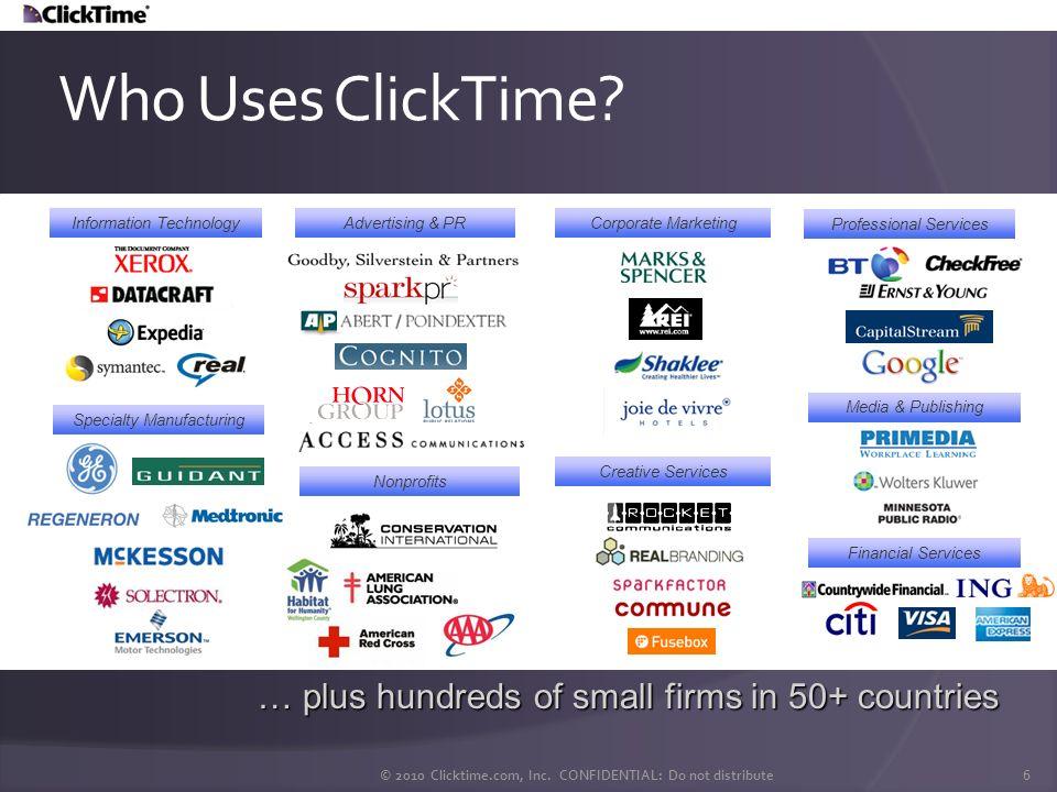 © 2010 Clicktime.com, Inc. CONFIDENTIAL: Do not distribute