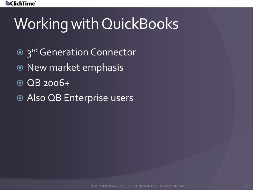 Working with QuickBooks