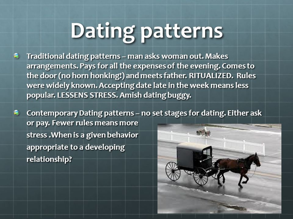 what is traditional dating