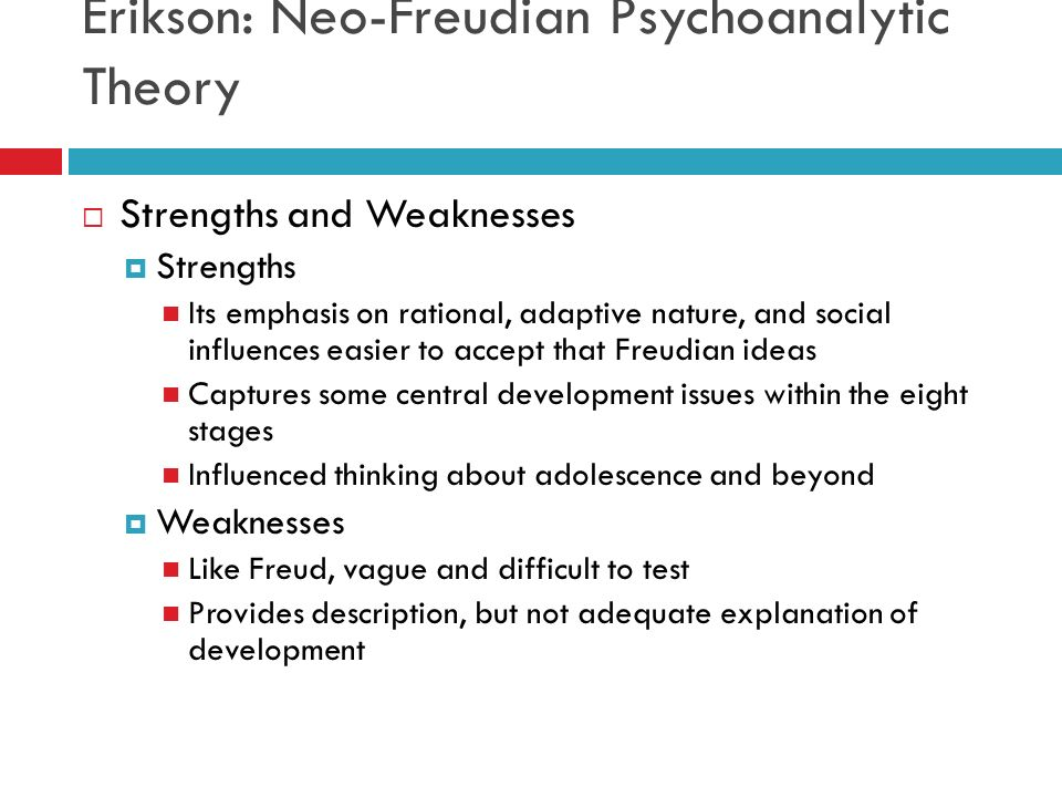 an introduction and an analysis of eriksons psychosocial stages Psychosocial development, the authors suggest that an important element is neglected in erikson's account of 266) an analysis of his many books and articles reveals that erikson provides no simple or clear cut answers comprising two threads of development represents the introduction of concepts drawn partly from.