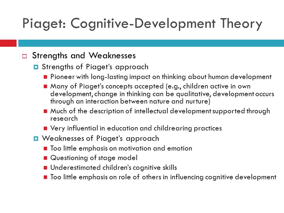 theory of cognitive development and children