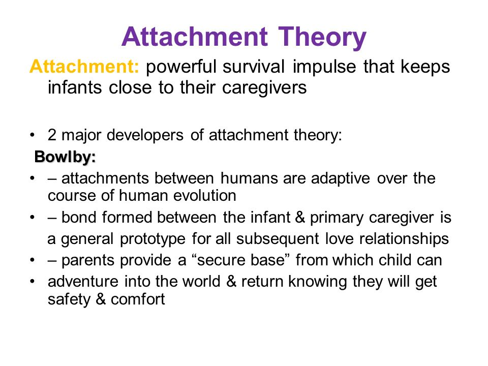 Attachment theory the bond between a caregiver Term paper