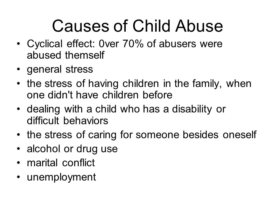 causes and effects of child abuse essay Child abuse causes and effects provide a research essay dedicated to different forms of abuse – from emotional to sexual, including their effects upon kids in their future life child abuse recognizing, recovering & preventing.