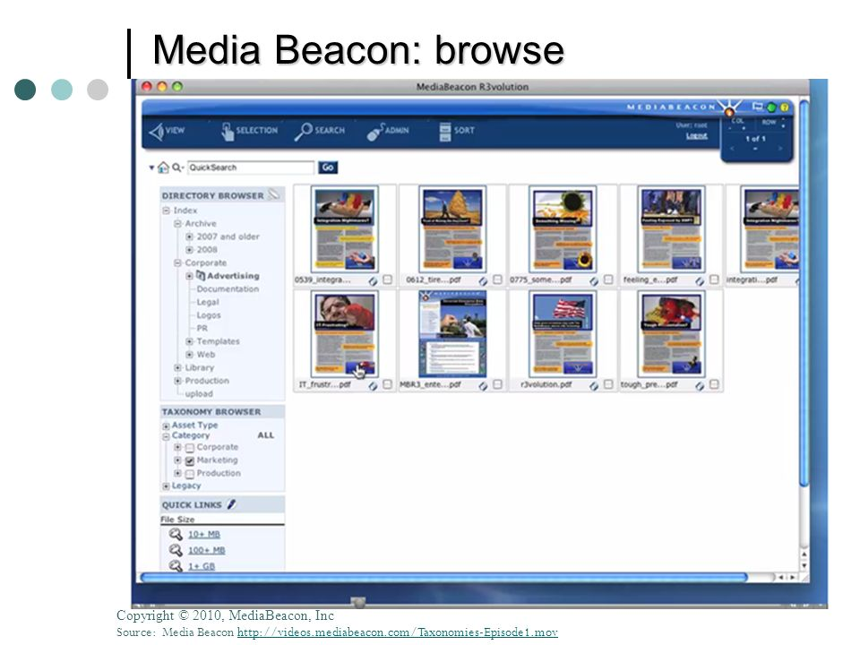 Media Beacon: browse