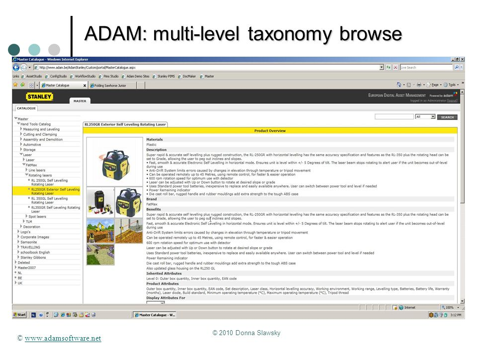 ADAM: multi-level taxonomy browse