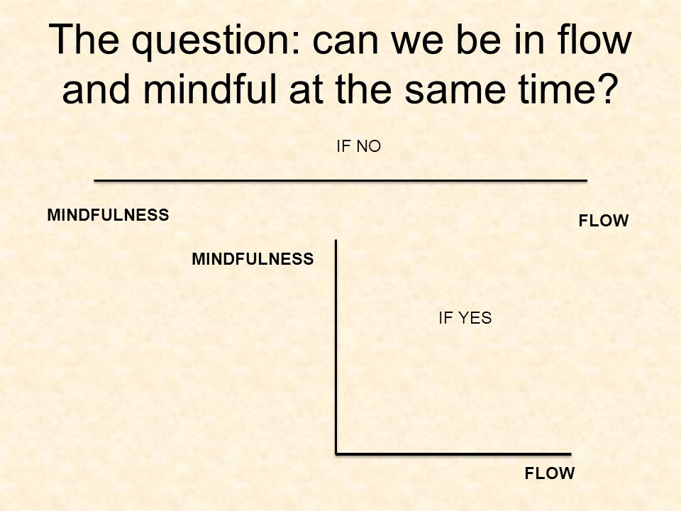 The question: can we be in flow and mindful at the same time