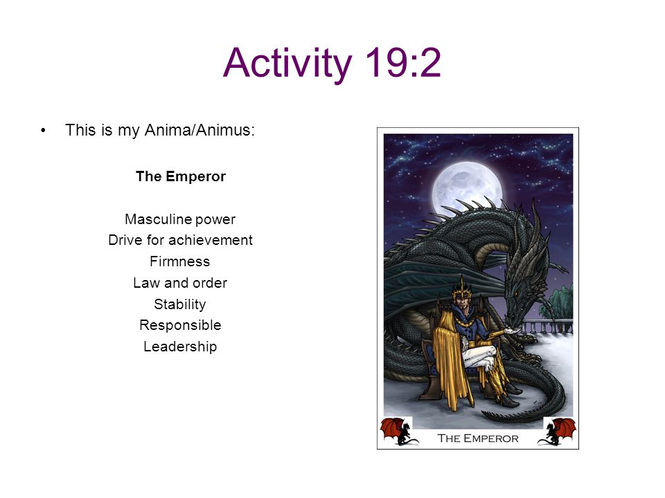 Activity 19:2 This is my Anima/Animus: The Emperor Masculine power