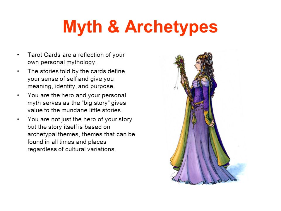 Myth & Archetypes Tarot Cards are a reflection of your own personal mythology.