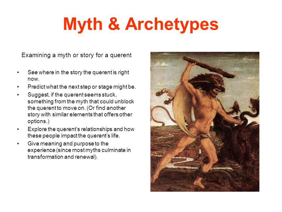 Examining a myth or story for a querent