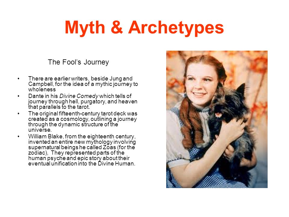 Myth & Archetypes The Fool's Journey