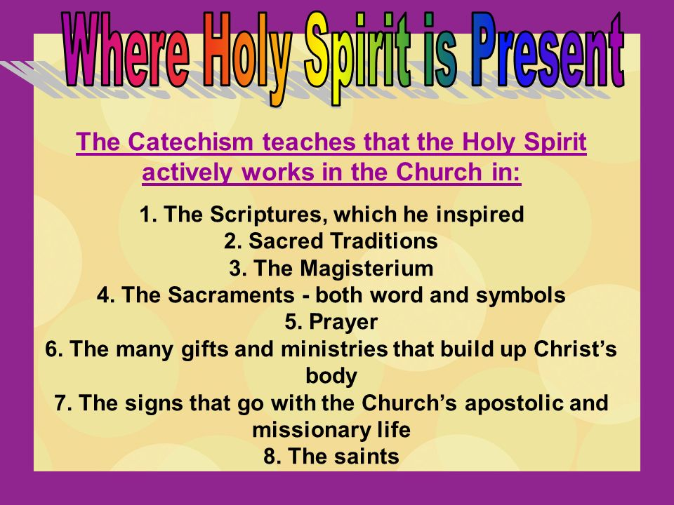 Gifts of the holy spirit catholic worksheet