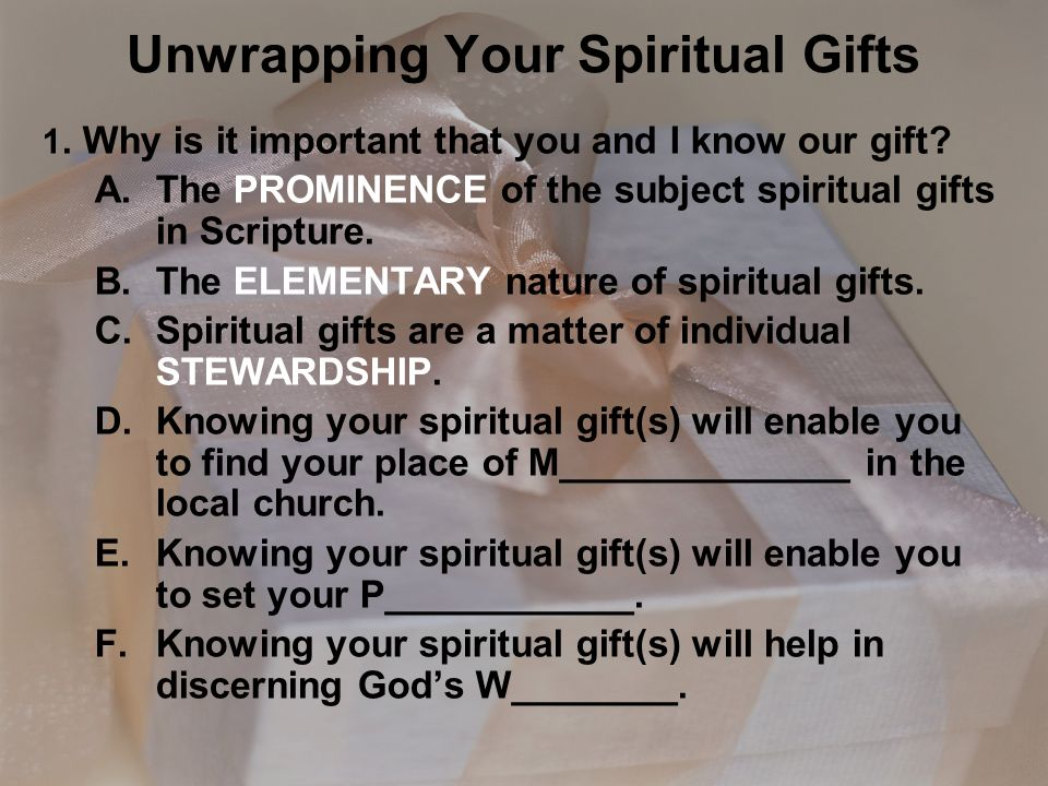 Unwrapping your spiritual gifts ppt video online download unwrapping your spiritual gifts negle Images