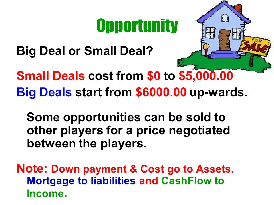 Opportunity Big Deal or Small Deal