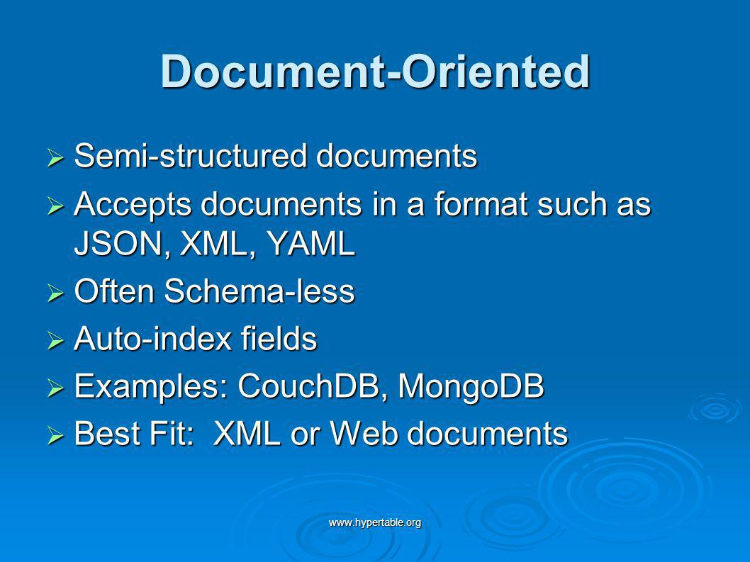 Document-Oriented Semi-structured documents
