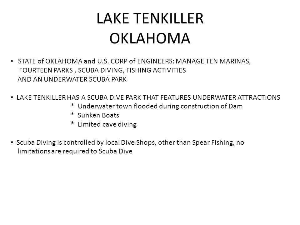 LAKE TENKILLER OKLAHOMA