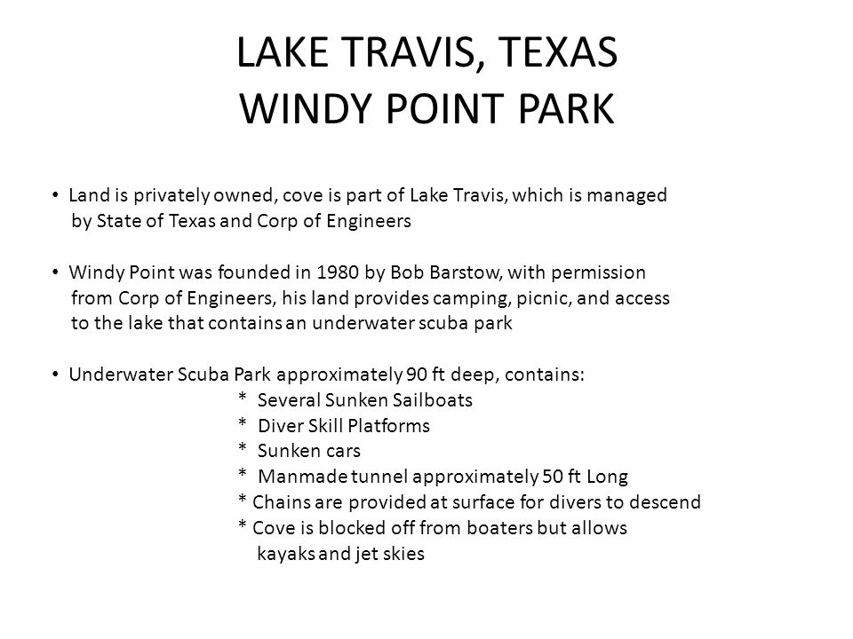 LAKE TRAVIS, TEXAS WINDY POINT PARK