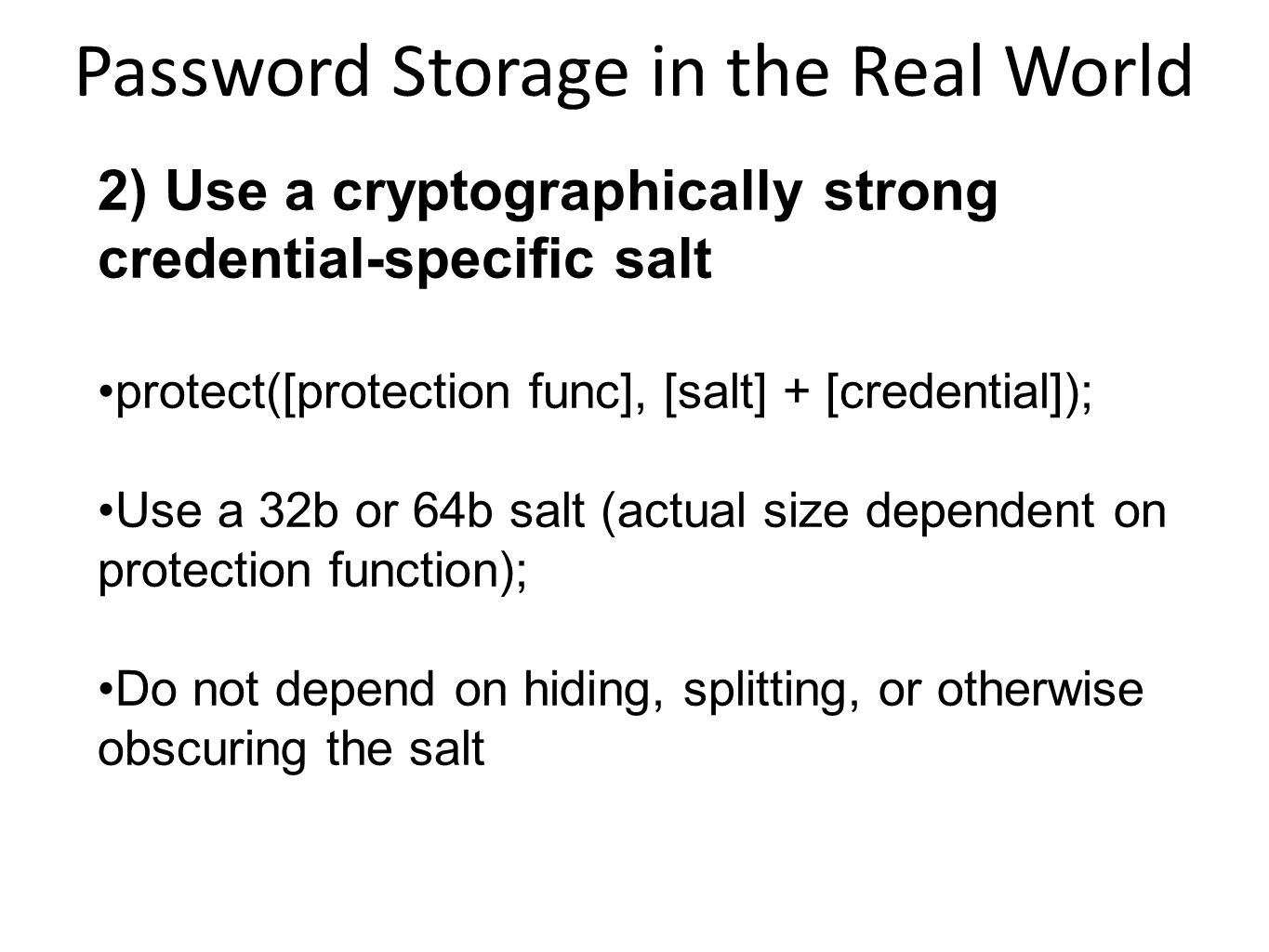 Password Storage in the Real World