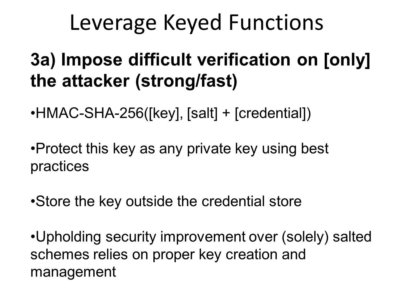 Leverage Keyed Functions