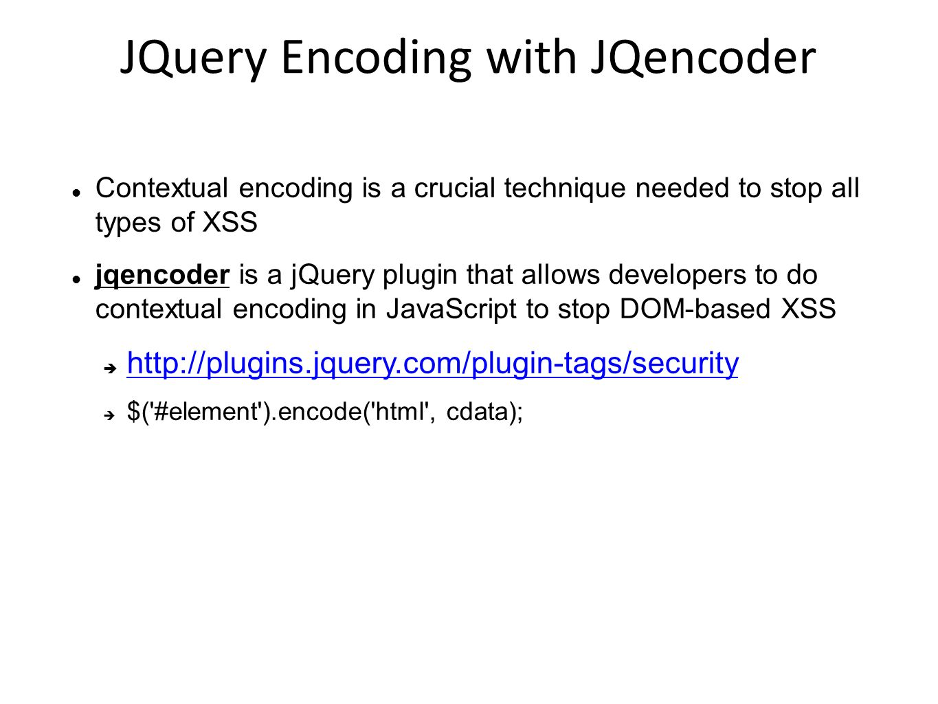 JQuery Encoding with JQencoder