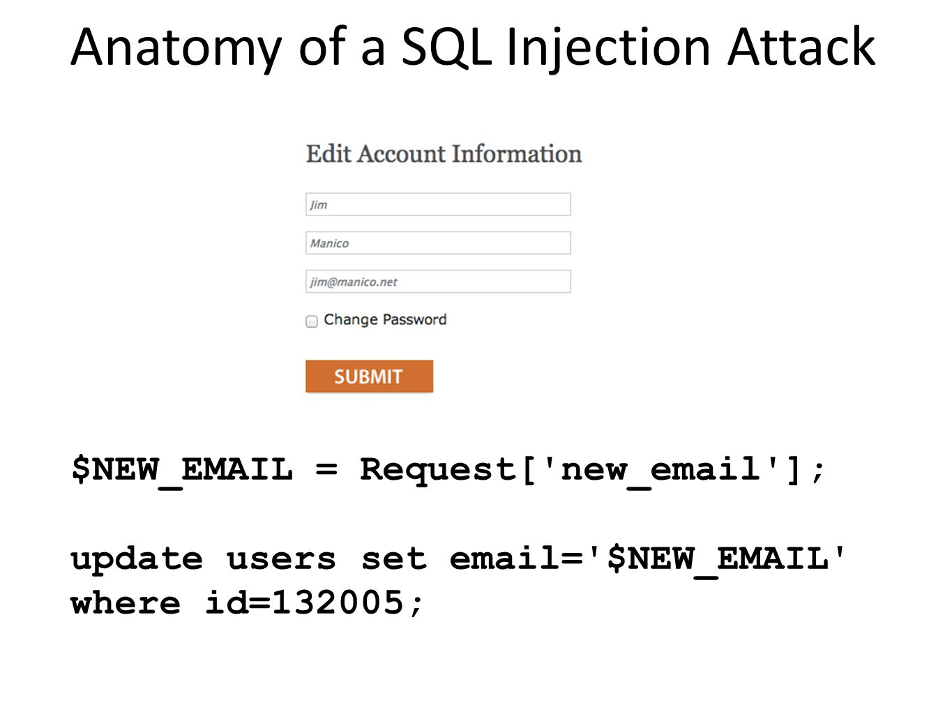 Anatomy of a SQL Injection Attack
